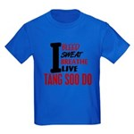 Bleed Sweat Breathe Tang Soo Do Kids Dark T-Shirt