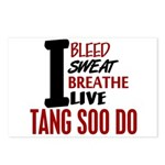 Bleed Sweat Breathe Tang Soo Do Postcards (Package