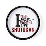 Bleed Sweat Breathe Shotokan Wall Clock