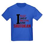 Bleed Sweat Breathe Shotokan Kids Dark T-Shirt