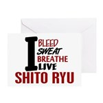 Bleed Sweat Breathe Shito Ryu Greeting Card