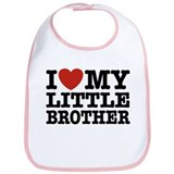 I Love My Little Brother Bib