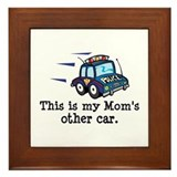 Mom Is A Cop Framed Tile