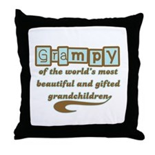 Grampy of Gifted Grandchildren Throw Pillow