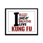 Bleed Sweat Breathe Kung Fu Framed Panel Print