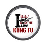 Bleed Sweat Breathe Kung Fu Wall Clock
