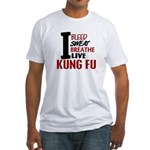 Bleed Sweat Breathe Kung Fu Fitted T-Shirt