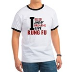 Bleed Sweat Breathe Kung Fu Ringer T