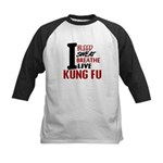 Bleed Sweat Breathe Kung Fu Kids Baseball Jersey