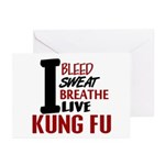 Bleed Sweat Breathe Kung Fu Greeting Cards (Pk of