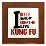 Bleed Sweat Breathe Kung Fu Framed Tile
