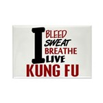 Bleed Sweat Breathe Kung Fu Rectangle Magnet (10 p