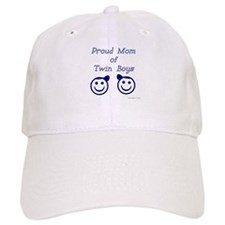 Proud Mom of Twin Boys - smiley Baseball Cap