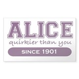 Alice, Quirkier Than You. Rectangle Decal
