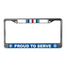 Silver Star License Plate Frame