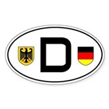 Germany car sticker