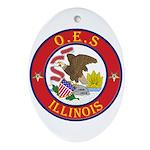Illinois O.E.S. Oval Ornament