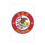 Illinois O.E.S. Rectangle Sticker
