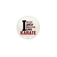 Bleed Sweat Breathe Karate Mini Button (10 pack)