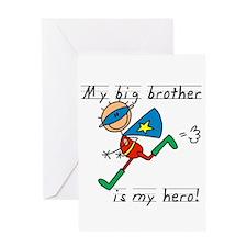 Big Brother My Hero Greeting Card