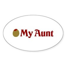 Olive (I Love) My Aunt Oval Decal