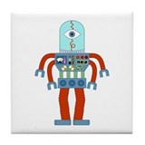 Scary Eyeball Robot Tile Coaster