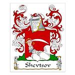 Shevtsov Family Crest Small Poster