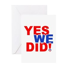 Yes we did Greeting Card