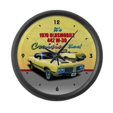 1970 Olds 442 Large Wall Clock