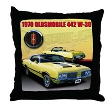 1970 Olds 442 Throw Pillow