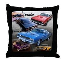 Cuda Throw Pillow