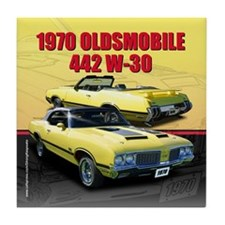 1970 Olds 442 Tile Coaster