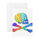 Disco Jolly Roger Greeting Card