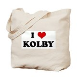 I Love KOLBY Tote Bag