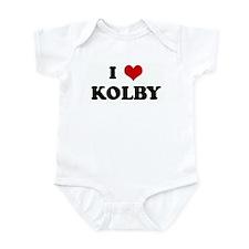 I Love KOLBY Infant Bodysuit