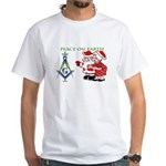 The Masonic Xmas Tree White T-Shirt