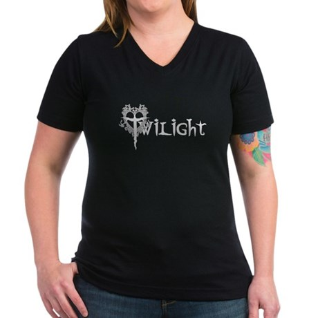 Twilight Movie Women's V-Neck Dark T-Shirt