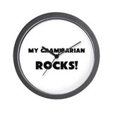 MY Grammarian ROCKS! Wall Clock