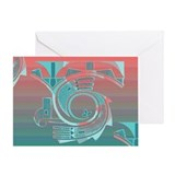 Turquoise Dawn Greeting Card