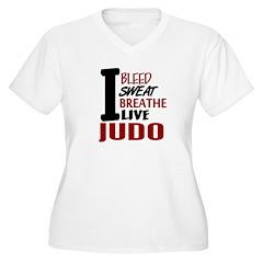 Bleed Sweat Breathe Judo Women's Plus Size V-Neck