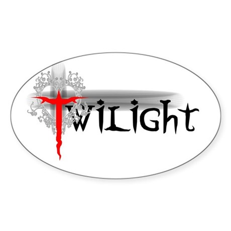 Twilight Movie Oval Sticker (10 pk)
