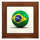 Brazilian Soccer Ball Framed Tile