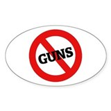Anti Guns Oval Decal