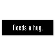 Hug Me Black Bumper Sticker (10 pack)