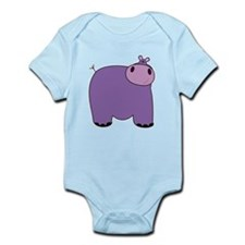 Friendly Hippopotomus Infant Bodysuit