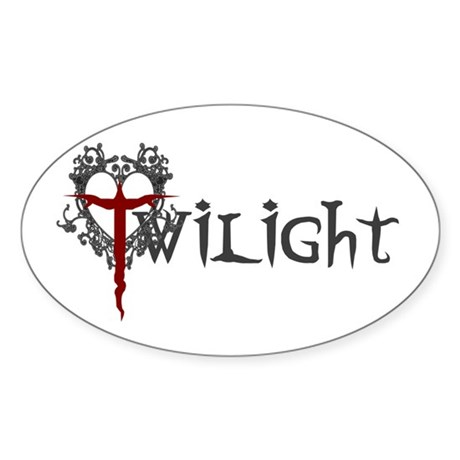 Twilight Movie Oval Sticker