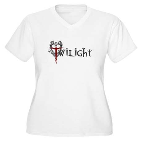 Twilight Movie Women's Plus Size V-Neck T-Shirt