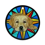 Molly w/stained glass design Ornament (Round)