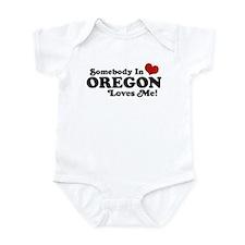 Somebody in Oregon Loves Me Infant Bodysuit