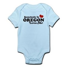 Somebody in Oregon Loves Me Infant Bodysuit